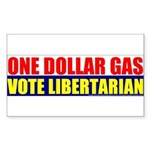 Rylla's Dollar Gas Rectangle Sticker