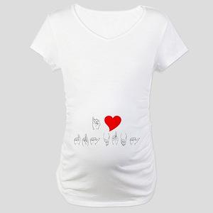 I Heart Grandma Maternity T-Shirt