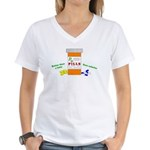 Better Than A Latte Women's V-Neck T-Shirt