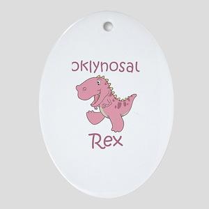 Brooklynosaurus Rex Oval Ornament