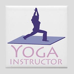Yoga Instructor Tile Coaster