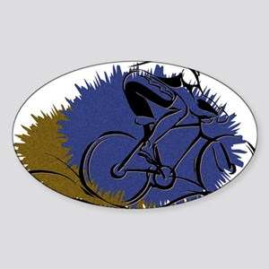 Cycling D1 Oval Sticker