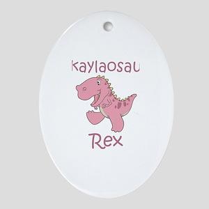 Makaylaosaurus Rex Oval Ornament