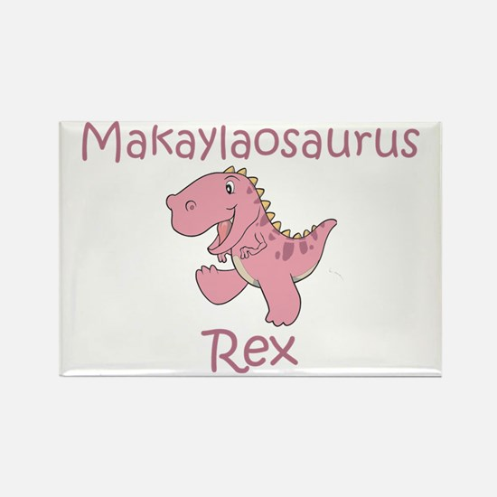 Makaylaosaurus Rex Rectangle Magnet