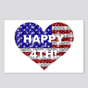 HAPPY 4TH Postcards (Package of 8)