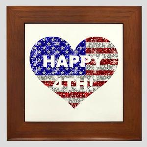 HAPPY 4TH Framed Tile