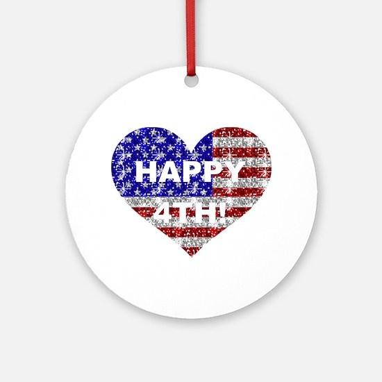 HAPPY 4TH Ornament (Round)