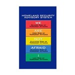 WE ARE NOT AFRAID! Rectangle Sticker
