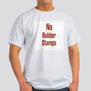 No Rubber Stamps Ash Grey T-Shirt