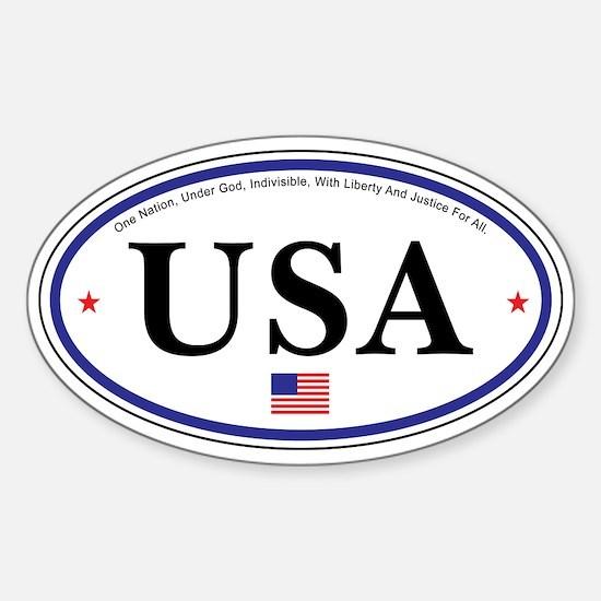 USA Emblem Oval Decal