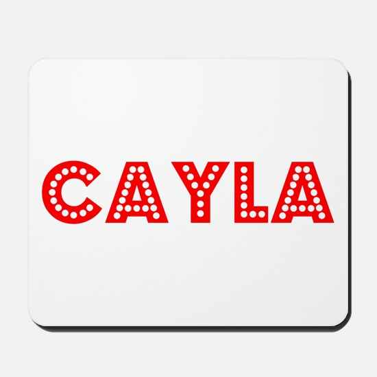 Retro Cayla (Red) Mousepad