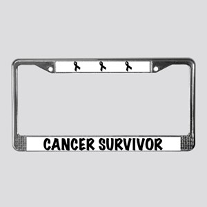 Black Ribbon License Plate Frame