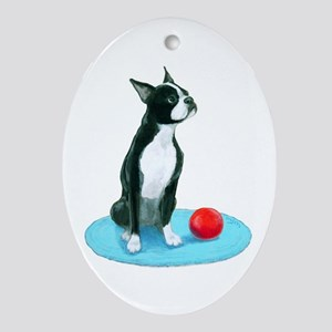 Keepsake (Oval) Boston Terrier