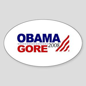 Obama Gore 08 Oval Sticker