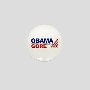 Obama Gore 08 Mini Button