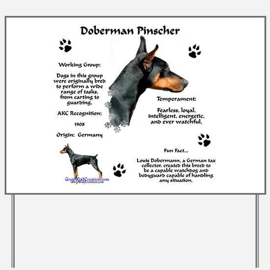 Dobie 1 Yard Sign