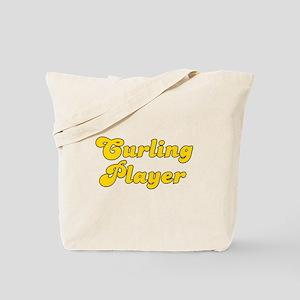 Retro Curling Pla.. (Gold) Tote Bag