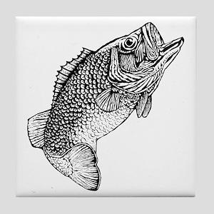 Largemouthed Bass Tile Coaster