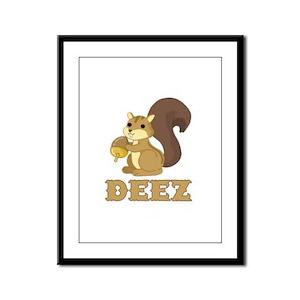 Deez Nuts Framed Panel Print