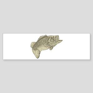 Largemouthed Bass Bumper Sticker