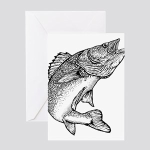 Walleye Greeting Card