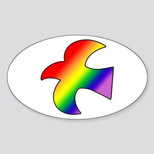 GLBT Dove Oval Sticker