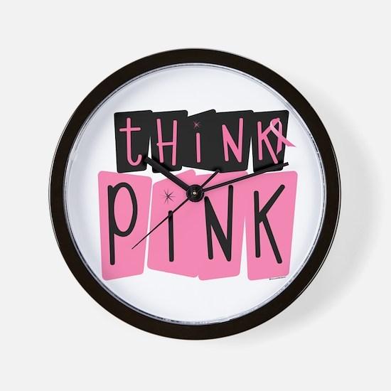 Think Pink 6 Wall Clock