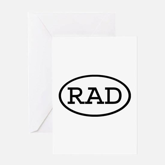 RAD Oval Greeting Card