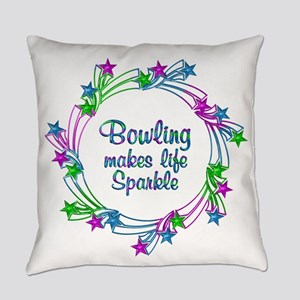 Bowling Sparkles Everyday Pillow