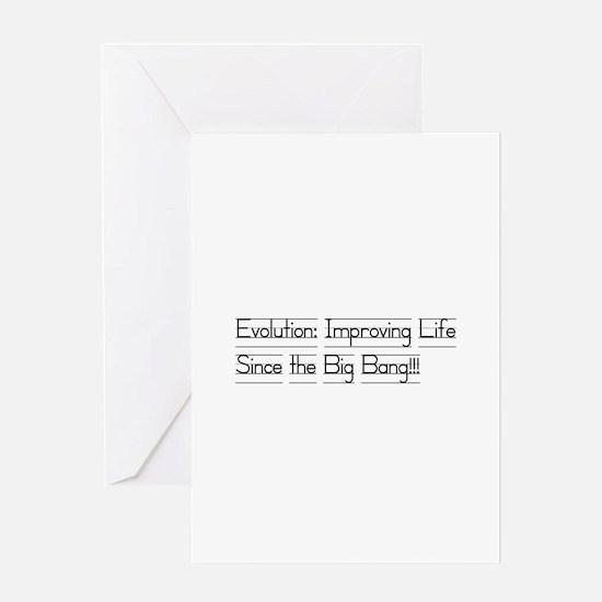 Evolution: Improving life Greeting Card