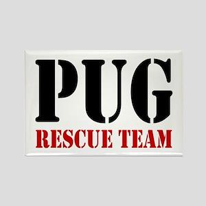 Pug Rescue Team Rectangle Magnet