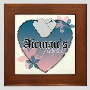 Airman's Fiancee Framed Tile