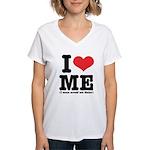I Love ME Women's V-Neck T-Shirt