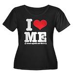 I Love ME Women's Plus Size Scoop Neck Dark T-Shir