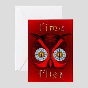 Time Flies Blank Greeting Card