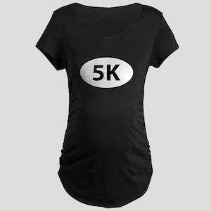 5K Runner Oval Maternity Dark T-Shirt