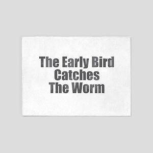 The Early Bird 5'x7'Area Rug
