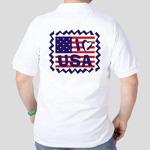 I LOVE USA Golf Shirt