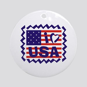 I LOVE USA Ornament (Round)