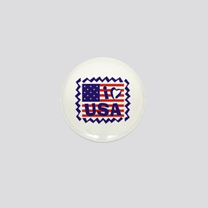 I LOVE USA Mini Button