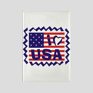 I LOVE USA Rectangle Magnet