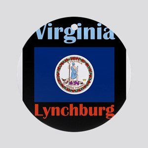 Lynchburg Virginia Round Ornament