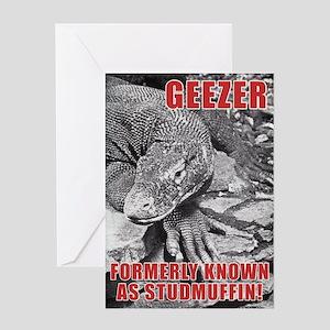 Geezer Greeting Card