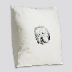 Sweet Sheepie Burlap Throw Pillow