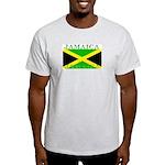 Jamaica Jamaican Flag Ash Grey T-Shirt