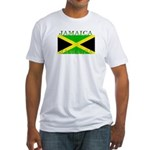 Jamaica Jamaican Flag Fitted T-Shirt