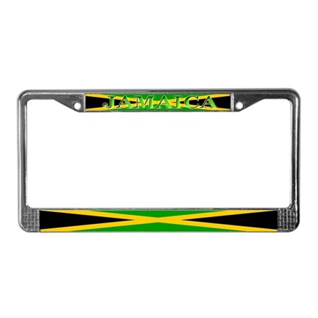 Jamaica Jamaican Flag License Plate Frame