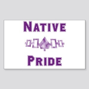 Hiawatha Native Pride Rectangle Sticker