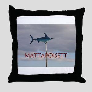 Mattapoisett Swordfish Throw Pillow