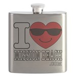 I Love Mission Beach Flask
